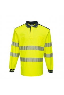 Portwest T184 - PW3 Hi-Vis Polo Shirt L/S (Small to 5XLarge)