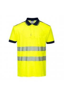 Portwest T180 - PW3 Hi-Vis Polo Shirt S/S 55% COTTON (Xsmall to 4Xlarge)
