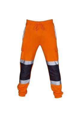 Supertouch Hi Vis 2 Tone orange Navy Jogging Bottoms