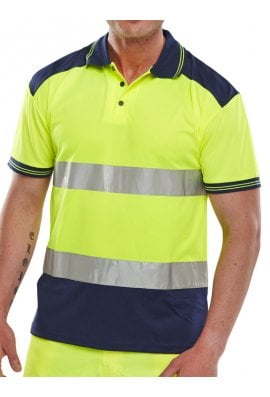 Beeswift CPKSTTEN Hi-Visibility Two Tone Polo Shirt (Medium To 4XL)
