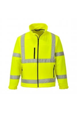 Portwest S424 Hi-Vis Classic Softshell Jacket (Small To 3XL)