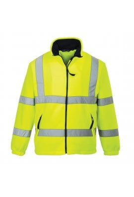 Portwest F300 Hi-Vis Mesh Lined Fleece (Small To 5XL)