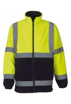 Yoko YK042 Hi-Vis HeavyWeight Fleece Jacket (Small to 3Xlarge)