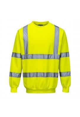Portwest B303 Hi-Visibility Sweatshirt  Rail Spec In Orange (Small To 5XL)