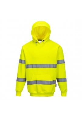 Portwest B304 Hi-Visibility Hooded Sweatshirt Rail Spec In Orange (Small To 4XL)