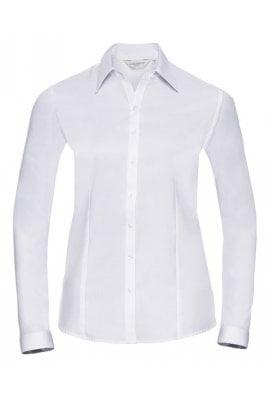 Russell J962F Women's long sleeve herringbone shirt (Xsmall to 3Xlarge)  2 COLOURS