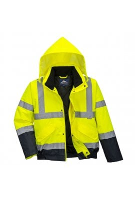 Portwest S266 Hi-Vis Two Tone Bomber Jacket (Small To 3XL)