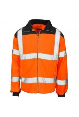 Supertouch ST37881 Supertouch Hi Vis Orange Rain Patch Fleece Jacket (Small to $XLarge)