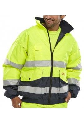 Beeswift EBJ Hi Vis  Europa Bomber Jacket (two Tone) (Small To 5XL)
