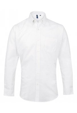 Premier PR234 Signature Oxford Long Sleeve Shirt  (Collar Size 14.5 To 19.0)  4 COLOURS