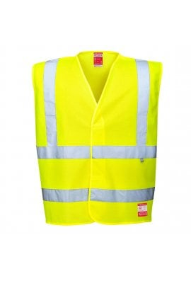 Portwest FR71 Yellow Flame Retardent Anti Static Hi Vis Vests (Small To 3XL)