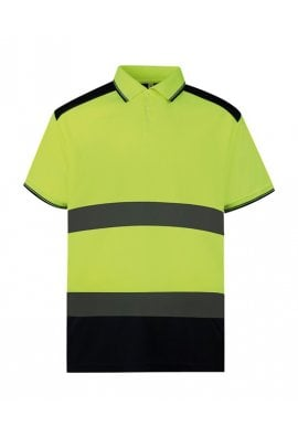 Yoko YK104 Hi-vis two-tone polo shirt (Small to 3XLarge)