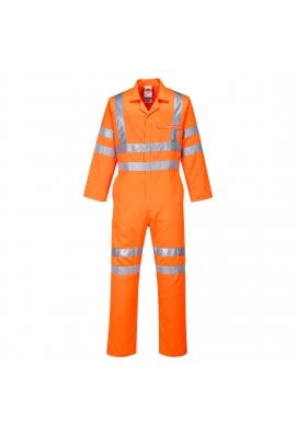 Portwest RT42OR Hi-vis Poly-Cotton Coverall GO/RT (SmallTo4XL)