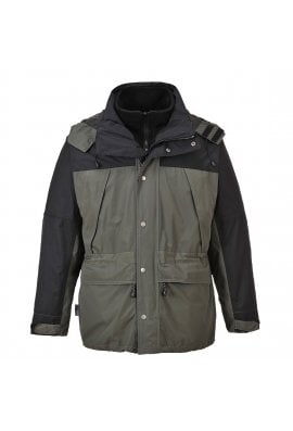 Portwest S532 Orkney 3 In 1 Waterproof and Breathable Jacket (Small to 4XLarge) 3 COLOURS