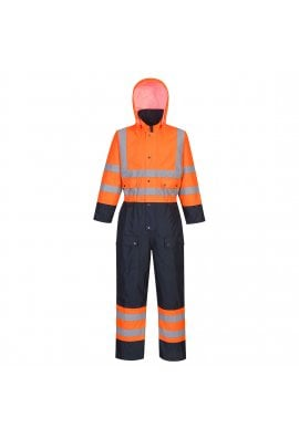 Portwest S485 Hi-Vis Contrast Coverall - Lined (Small To 6XL)