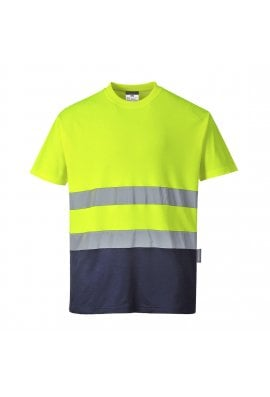 Portwest S173 - Two Tone Cotton Comfort T-Shirt (Small to 3XLarge)  2 COLOURS