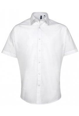 Premier PR209 Supreme Poplin Short Sleeve Shirt  (Collar Size 14.5 To 19.0) 3 COLOURS