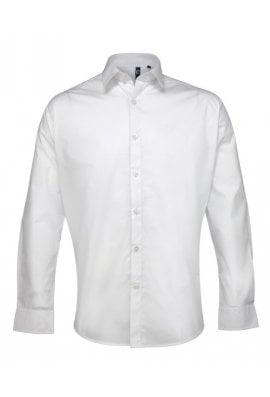 Premier PR207 Supreme Poplin Long Sleeved Shirt  (Collar size 14.5 To 19.0)  3 COLOURS