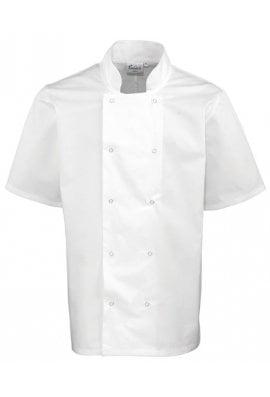 Premier PR664 Studded Front Short Sleeve Chefs Jacket