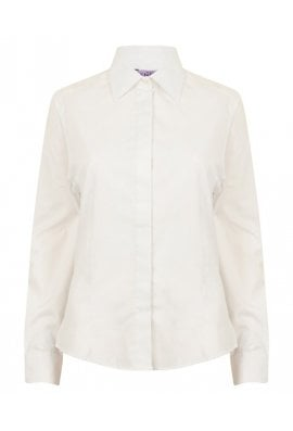 Henbury HB551 Ladie Fit Long Sleeved LightWeight Shirt  (XS To 3XL)  2 COLOURS