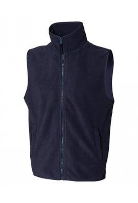 Henbury HB855 Sleeveless MicroFleece Jacket (Small to 2XLarge) 2 COLOURS