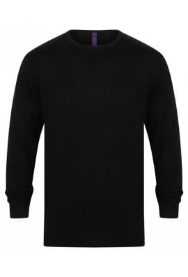 Henbury HB725 Crew Neck Jumper (Small to 4XLarge) 3 COLOURS