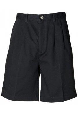 Henbury HB605 Teflon Coated Chino Shorts Black