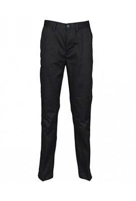 Henbury HB641 Womens 65/35 Flat Fronted Chino Trousers Black