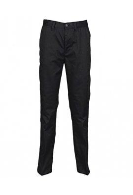 Henbury HB640 65/35 Flat Front Chino Trousers Black