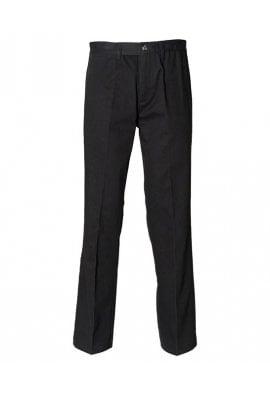 Henbury HB608 Teflon Coated Flat Front Chino Trousers Black