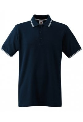 Fruit Of The Loom SS250 Tipped Collar  Polo (Small To 3XL) 7 COLOURS