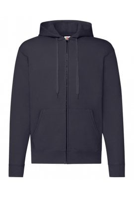 Fruit Of The Loom SS222 Classic 80/20 Zipped Hooded Sweatshirt Jacket (Small to 2XLarge) 9 COLOURS