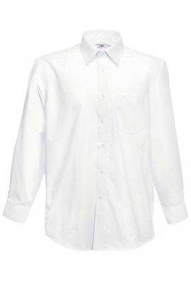 Fruit Of The Loom SS118 Poplin Long Sleeved Shirt  (S To 3XL)  5 COLOURS