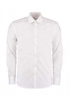 Kustom Kit KK192 Slim Fit Business Long Sleeved Shirt  (Collar Size 14.0 To 18.0)  3 COLOURS
