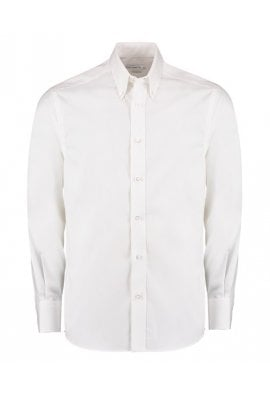 Kustom Kit KK188 Premium Long Sleeved Oxford Shirt TaIlored Fit (Collar Size 14.5 To 19.5)  3 COLOURS