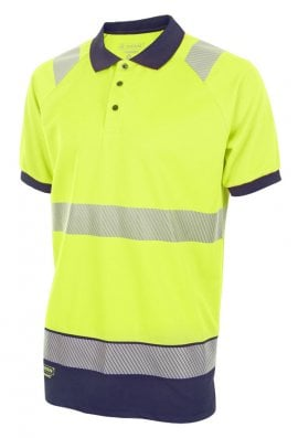 Beeswift HVTT010  Hi Vis Two Tone Polo Shirt (Small to 4XLarge) 2 COLOURS