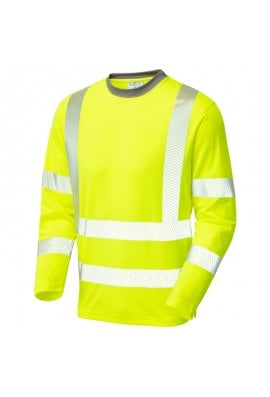 Leo Workwear T08 Class 3 Coolviz Plus Sleeved T-Shirt Yellow (Small to 6XLarge)