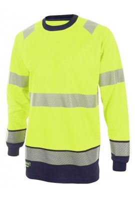 Beeswift HVTT005 Hi Vis Two Tone Long Sleeved T Shirt (Small to 4XLARGE) 2 COLOURS