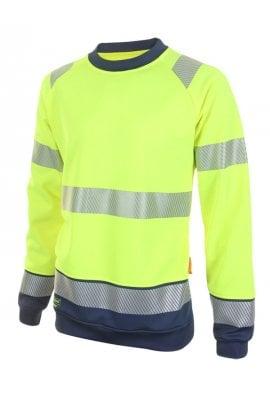 Beeswift HVTT020 Hi Vis Two Tone Sweatshirt (Small to 4XLarge) 2 COLOURS