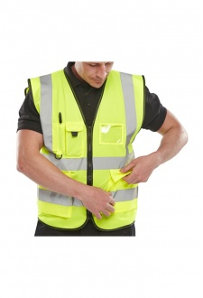 WCENGEXEC Executive Hi Vis Vests Zip Fastening (Small to 4Xlarge)