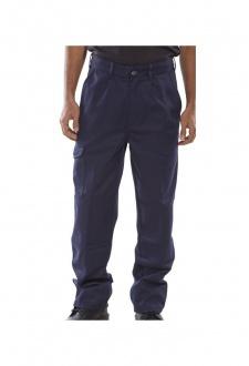PCT9N Click Navy Heavyweight 9oz Polycotton Work Wear Trouser