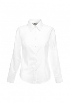 SS001 Ladies Fit Long Sleeved Oxford Shirt (XSmall  TO 3XLarge )  5 COLOURS