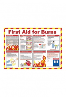 BSS13229 Safety Awareness Posters 'First Aid For Burns'