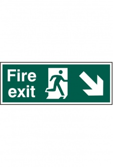 BSS12101 Fire Exit Man Down Right Sign PVC Version