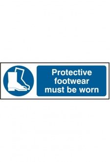 BSS11385 Protective Footwear Must Be Worn Sign PVC Version