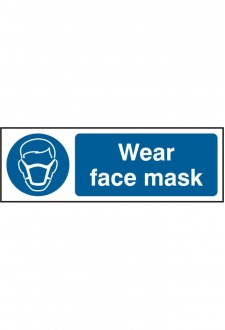BSS11389 Wear Face Mask Sign PVC Version