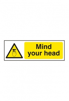 BSS11109 Mind Your Head Sign Vinyl Version