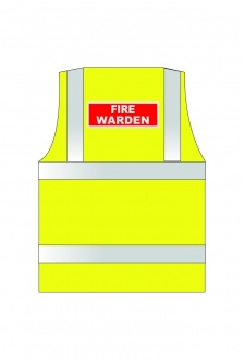 WCENGFW Fire Warden Hi Vis Vests (Xsmall To 6XL)