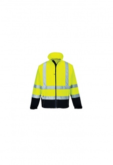 S425 Hi-Vis Contrast Softshell  (Small To 3XL)