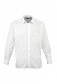 PR200 Long Sleeve Poplin Shirt  (Collar Size 14.5 to 23 Inch)  15 COLOURS